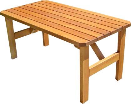 Dřevěný zahradní stůl z masivu