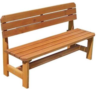 Dřevěná zahradní lavička z masivu