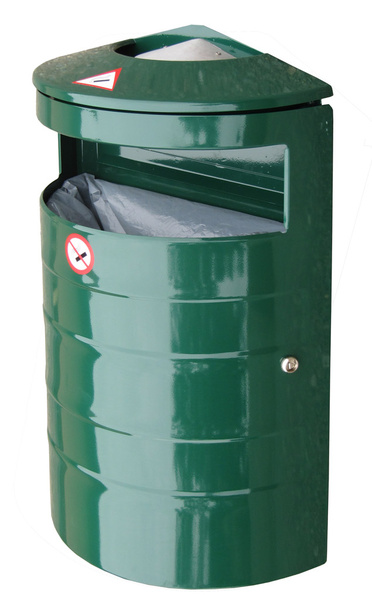 Kovový odpadkový koš s popelníkem