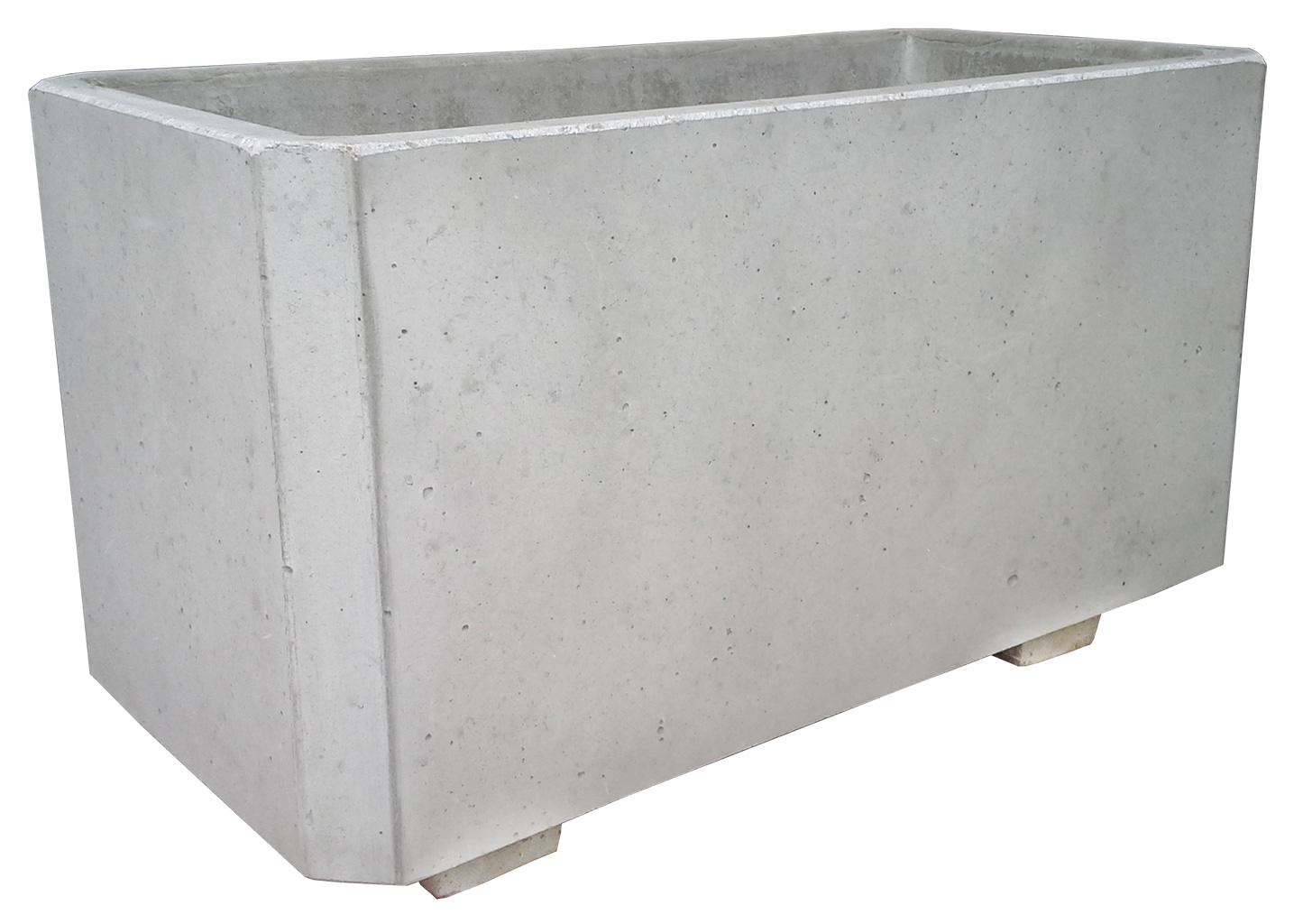 Betonový květináč prostý beton