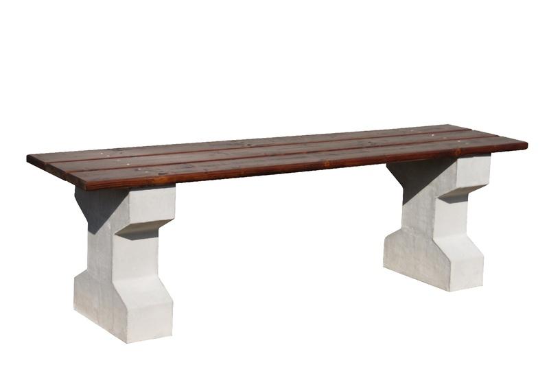 Betonová lavička bez opěradla